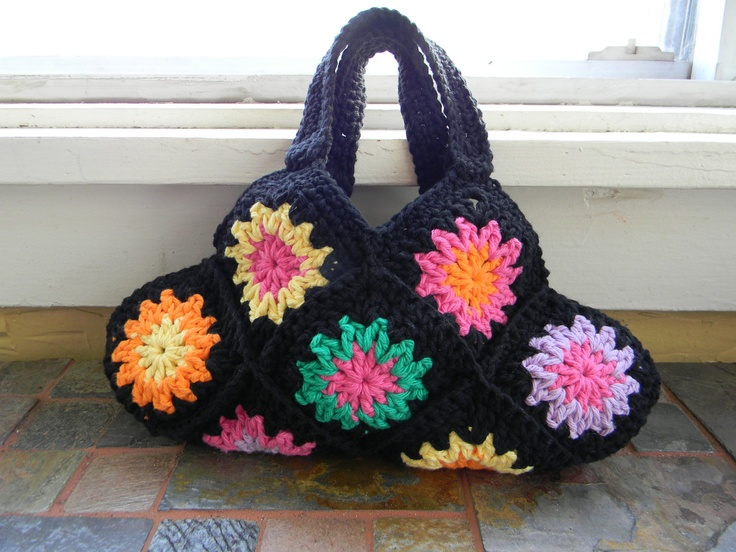 Crochet Granny Square Hobo Bag Pattern : Crochet Granny Square Hobo Purse Pattern Crochet Purses ...