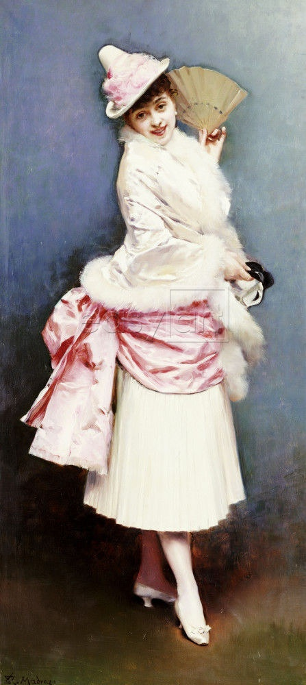 I love how frilly this outfit is. A Portrait of Aline Masson by Raimundo De Madrazo Y Garreta