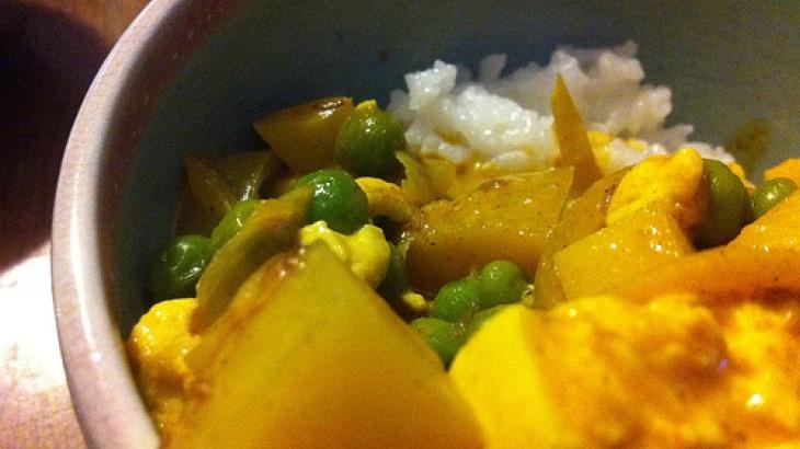 Tofu and Pea Curry | Veggies | Pinterest