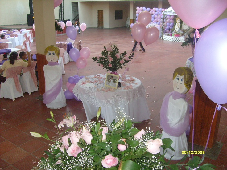 Primera comunion decoraciones de fiestas google search - Decoracion para comunion ...