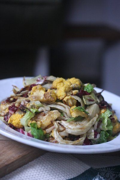 Roasted Cauliflower and Fennel Salad with Endive and Radicchio #salad ...