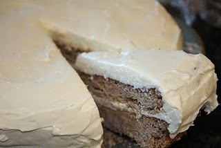 pecan spice layer cake with cream cheese frosting- low carb