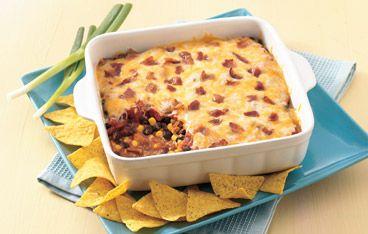 Bean and Bacon Fiesta Dip Recipe | Delicious Dips | Pinterest
