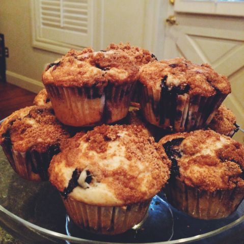blueberry coffee cake muffins | Looking good food | Pinterest