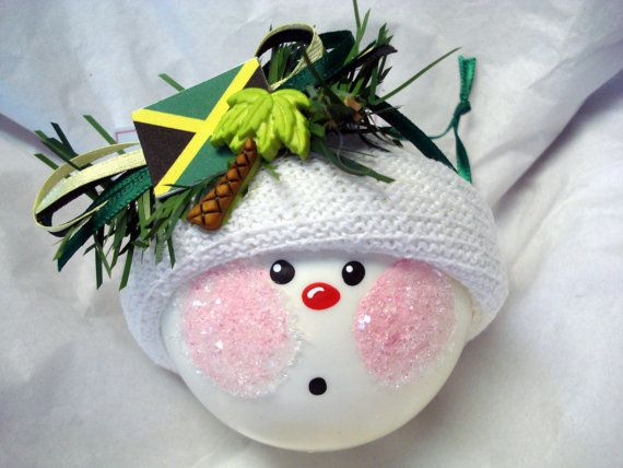 Destination Wedding Jamaican Flag Christmas Ornament Snowball Tree ...
