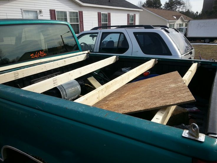 Homemade Wood Truck Bed Cover