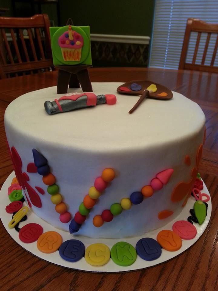 art theme cake Cakes I ve Made Pinterest