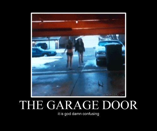 Funny Garage Door : No idea how that works funny pinterest