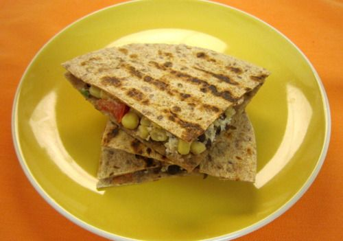 Black Bean and Goat Cheese Quesadillas | Being a vegetarian never tas ...
