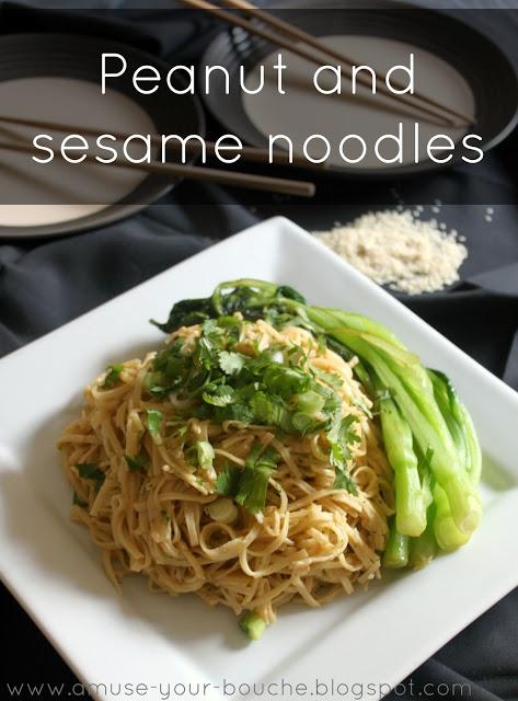 Peanut and sesame noodles   Amuse Your Bouche
