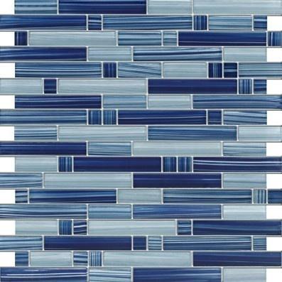 Mosaic Cobalt Blue BACKSPLASH BATHROOM WALLS
