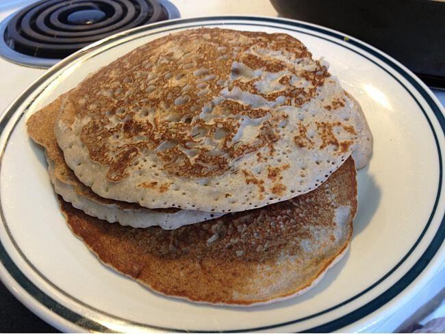 Delicious buckwheat pancakes gluten free