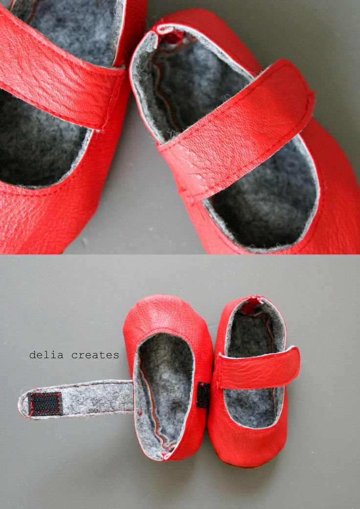 delia creates: Leather Baby Shoes