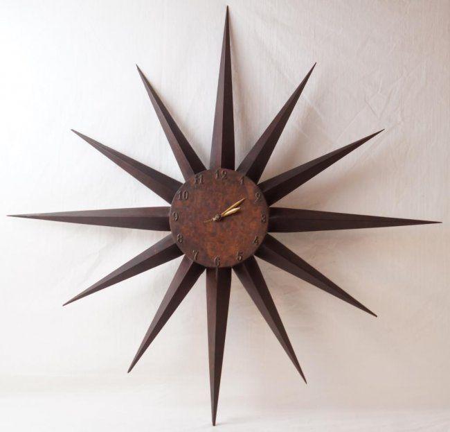 mid century modern star wall clock interior furniture