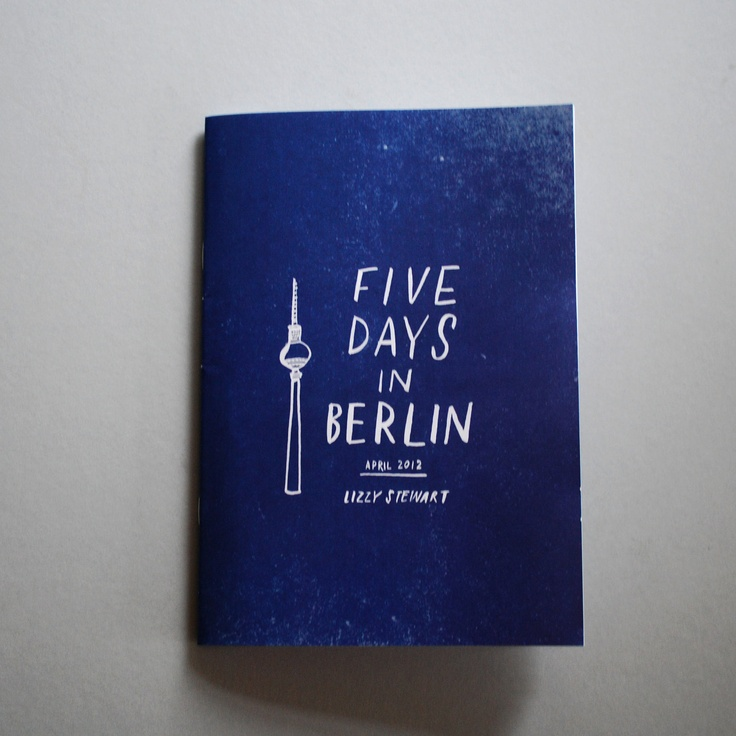 Five Days in Berlin travel diary zine. £3.50, via Etsy.