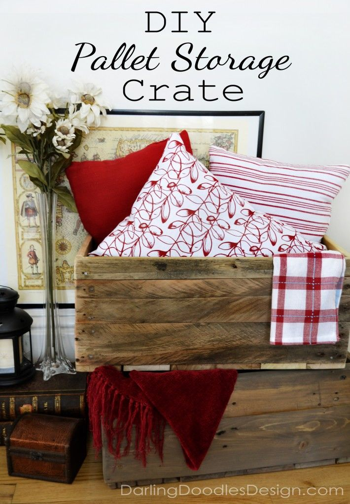 DIY Reclaimed Pallet Storage Crates DIY Pinterest