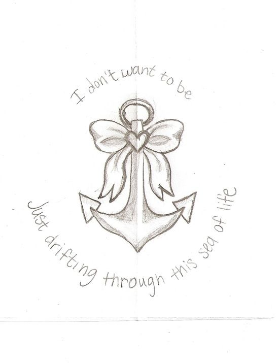 Think This Might Be The Final Drawing For My anchor With bow
