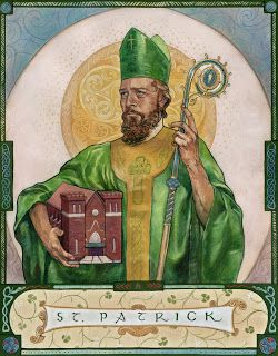 St. Patrick (A commission for the Knights of Columbus at St. Patrick's Church, Columbus, OH), Bernadette Carstensen 2013