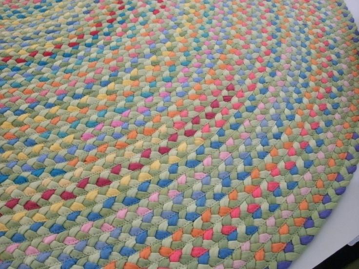 Вязаные коврики из ткани