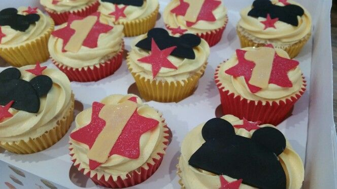 Mickey Mouse 1st Birthday CupcakesMickey Mouse 1st Birthday Cupcakes