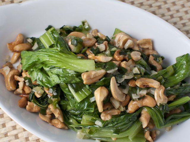 Baby Bok Choy With Cashews Recipes — Dishmaps