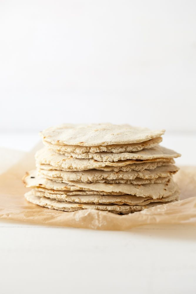 Homemade Corn Tortillas - masa harina (corn flour), water, salt