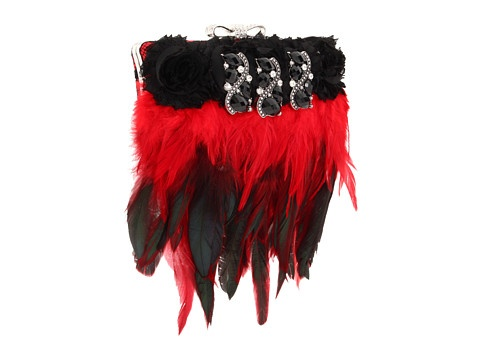 Black & Red Evening purse ~ Inspired by Claire Jane Gothic Feather Purse at Zappos.com