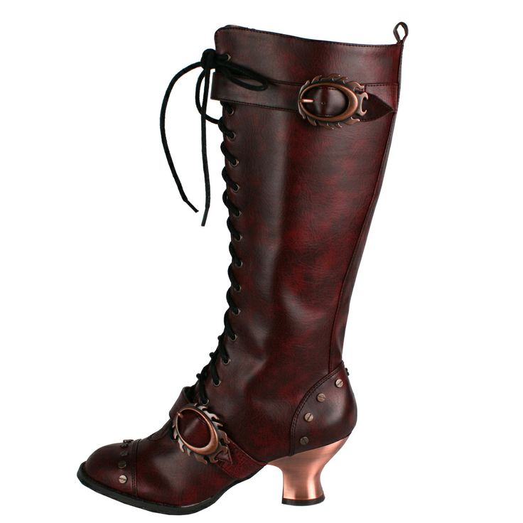 hades s vintage leather lace up knee high boots