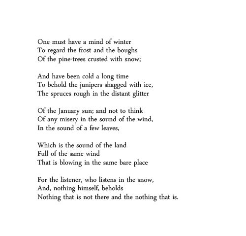 an analysis of the poem of wallace stevens Contains: commentary, criticism: author: alan filreis: from: wallace stevens  and the actual world princeton university press, 1991: keywords: an  introduction.