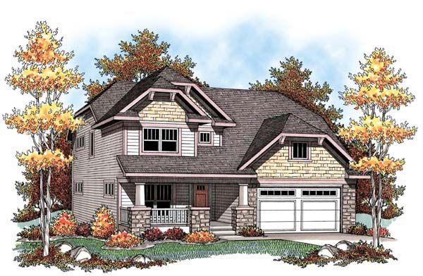 Country Craftsman Farmhouse House Plan 72910