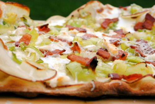 potato, leek and bacon pizza | Recipes to try | Pinterest
