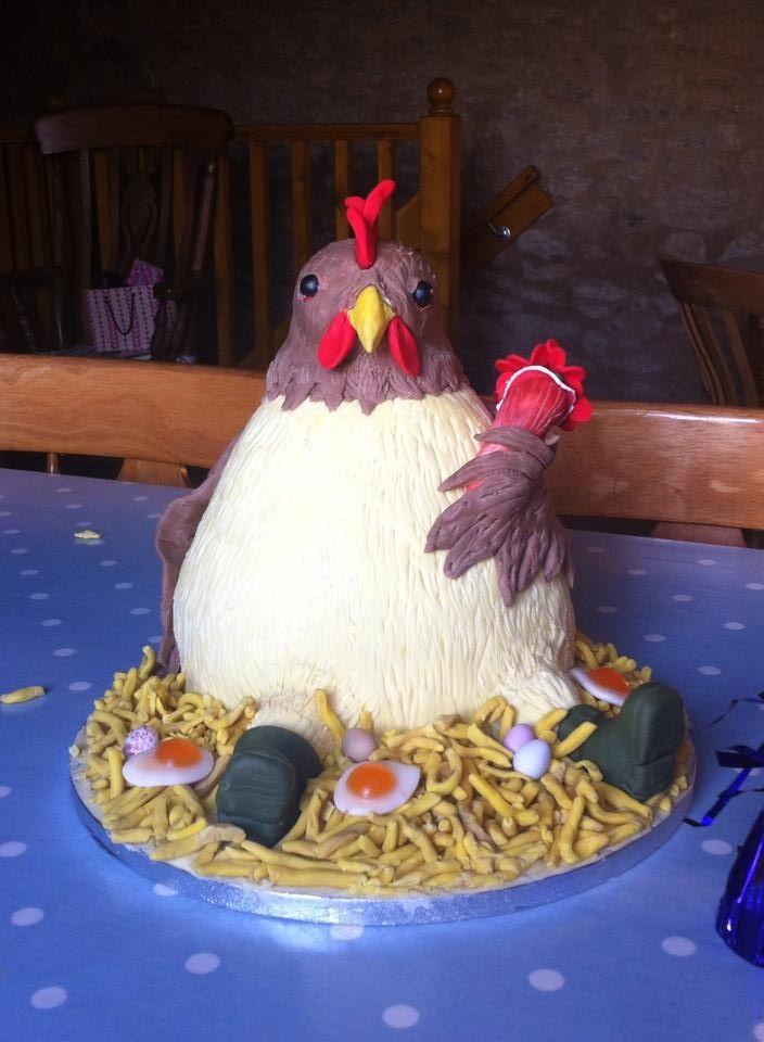 Chicken cake for a hen do Cake decoration Pinterest