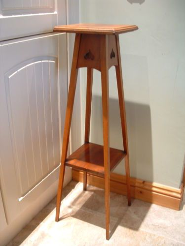 arts and crafts style yew plant or aspidistra stand side table ebay