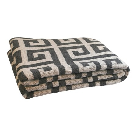 charcoal Greek Key Throw... love.