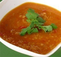 Spicy Ginger And French Lentil Soup Recipe — Dishmaps