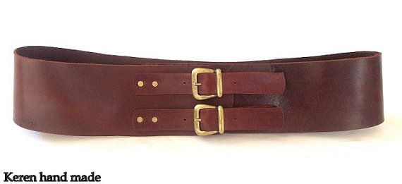 classic wide leather belt womens leather belt brown