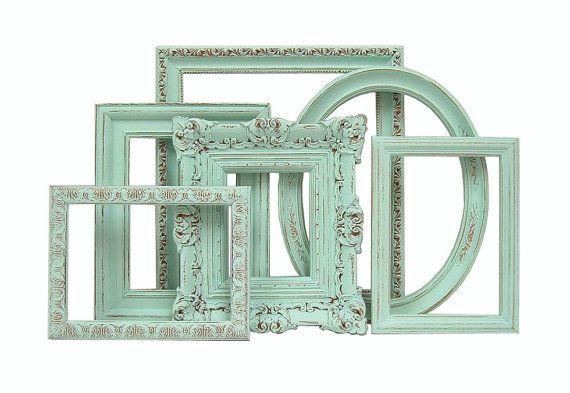 Shabby Chic Frames - Mint Green