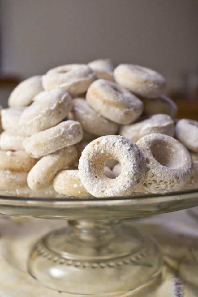 Baked Powdered Sugar Donuts | Food and Libations | Pinterest