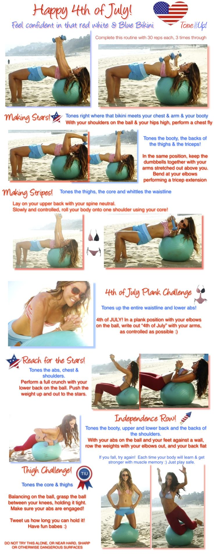 4th of july fitness images
