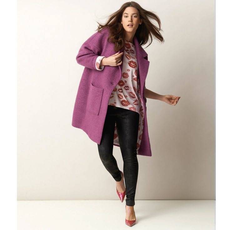William Carnimolla Ali Tate mode grandes tailles plus-size fashion oversize coat lips print