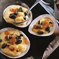 Rice Pudding with Pistachios, Raisins and Saffron [I put cranberries ...