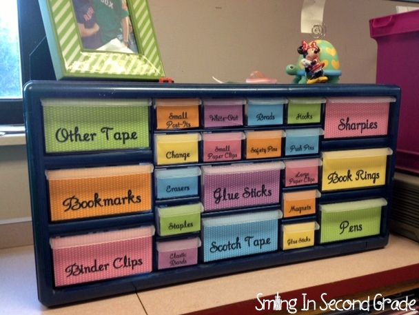 Desk supplies organizer school pinterest - Desk organization ideas ...