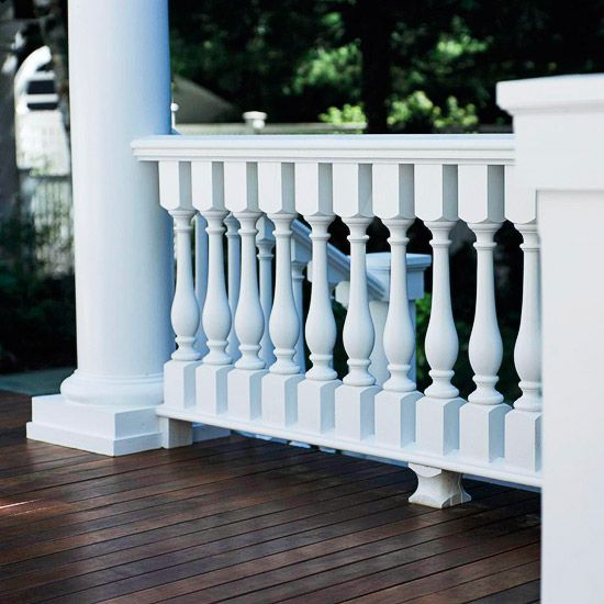 Curb Appeal - Upgrade railings  Porch and stoop railings can deteriorate quickly if not treated properly. If your railings are past their prime, look for quality wood or metal components to replace the existing material. As with other improvements attached directly to the house, make sure the color, scale, design, details, and material are compatible with the home's main features.