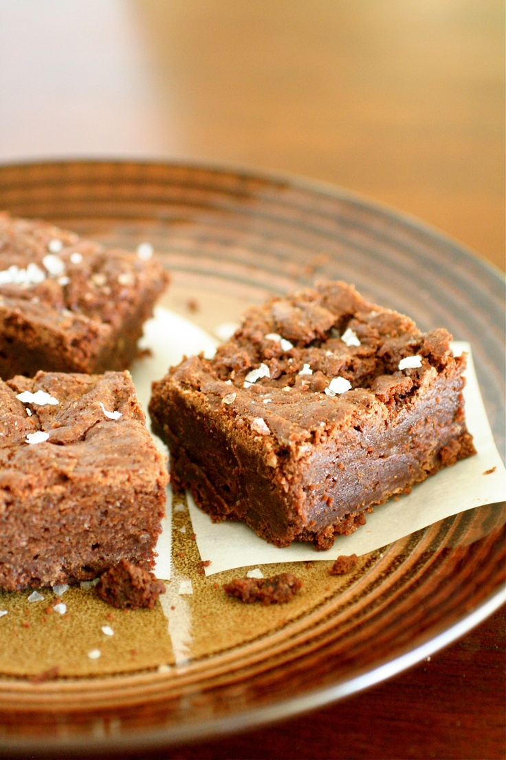 Sea salt fudge brownies | Yummy Bar Goodness | Pinterest