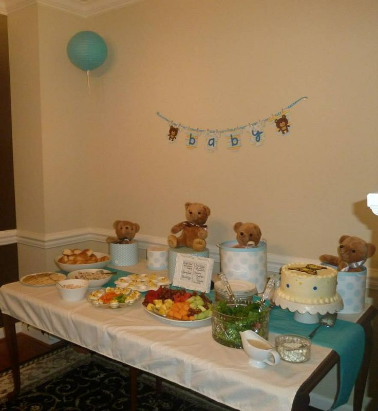 teddy bear themed baby shower baby k 39 s baby shower ideas blue brow