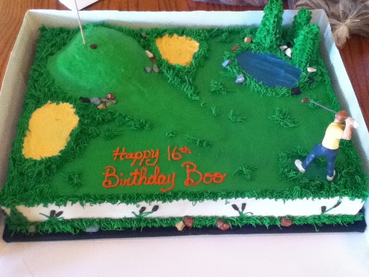 Golf Course Cake Design : golf course cake Cake Ideas Pinterest