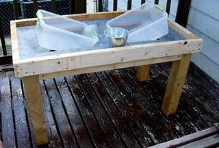 DIY sand and water table