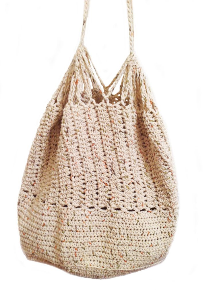 Crochet Beach Bag : Crochet slouch beach bag with drawstrings by TheHeartHat on Etsy, $36 ...