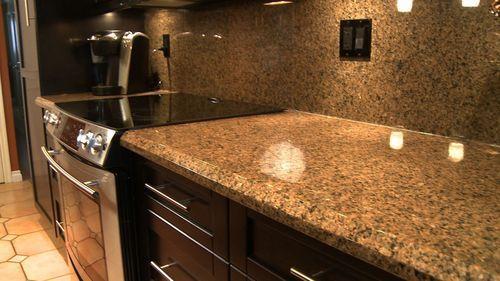 Granite Look Alike Countertops : granite look alike on PVC contact paper...light weight and scratch ...