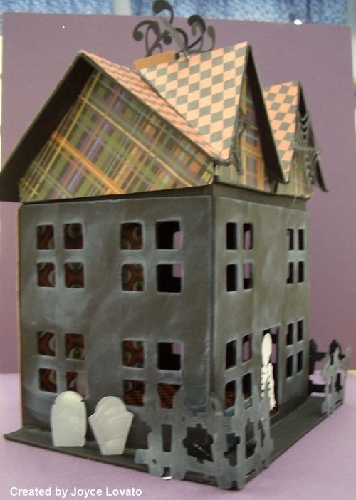 Paper mache haunted house cardboard houses pinterest for How to make a cardboard haunted house